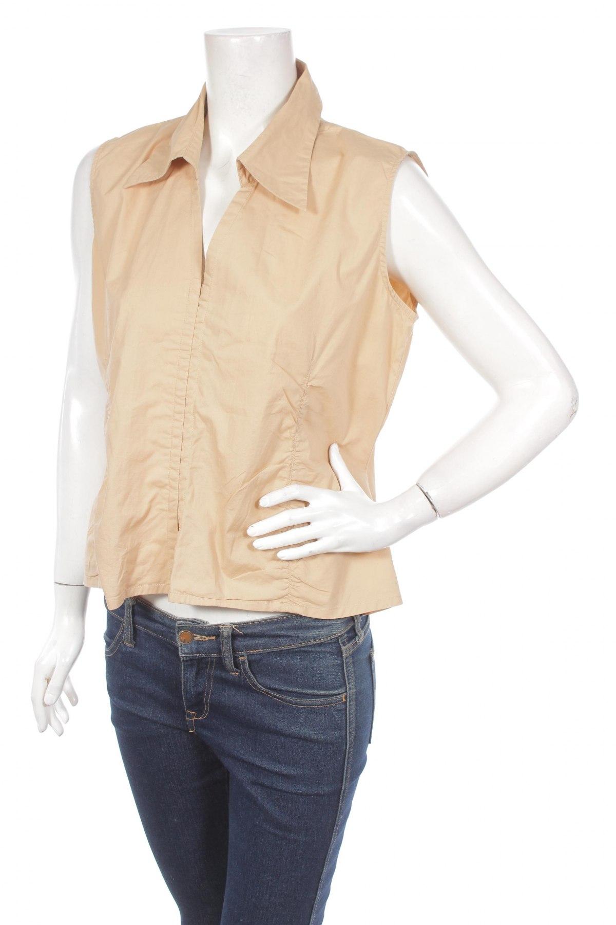 Γυναικείο πουκάμισο Blue Motion, Μέγεθος XL, Χρώμα  Μπέζ, 97% βαμβάκι, 3% ελαστάνη, Τιμή 9,28€