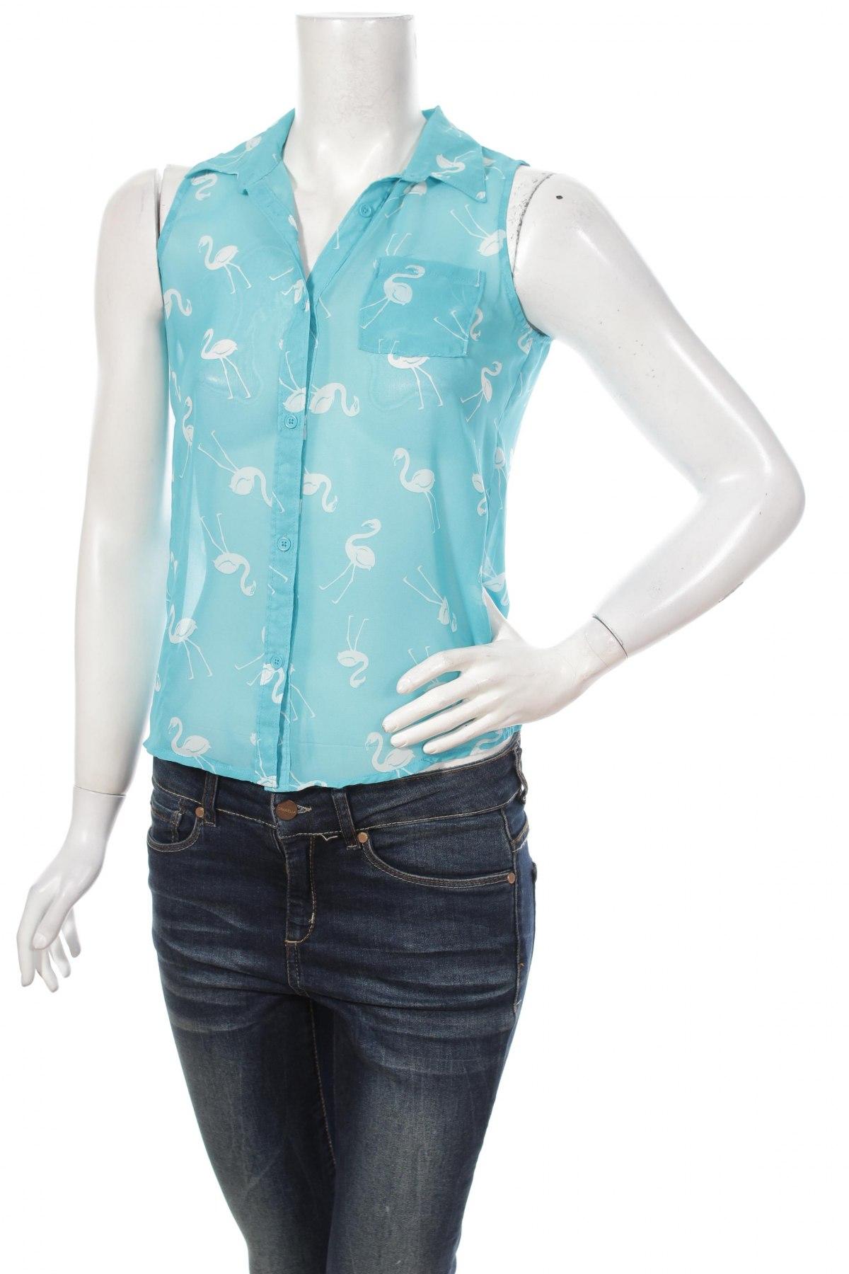 Γυναικείο πουκάμισο Xhilaration, Μέγεθος L, Χρώμα Μπλέ, 100% πολυεστέρας, Τιμή 8,66€