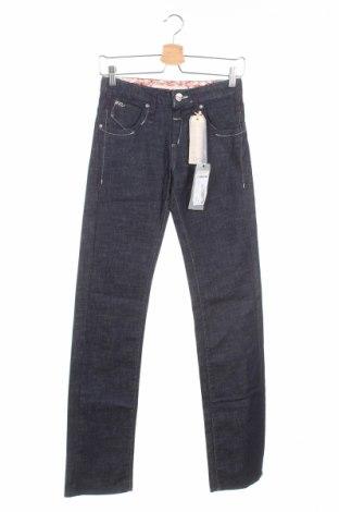 Дамски дънки Miss Sixty, Размер XS, Цвят Син, 98% памук, 2% еластан, Цена 28,11лв.