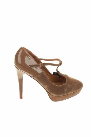 Дамски обувки Mariamare, Размер 39, Цвят Кафяв, Еко кожа, текстил, Цена 51,00лв.
