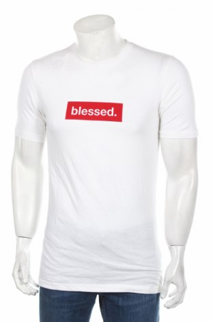 Pánske tričko  Boohoo, Veľkosť L, Farba Biela, 94% bavlna, 6% elastan, Cena  8,25€