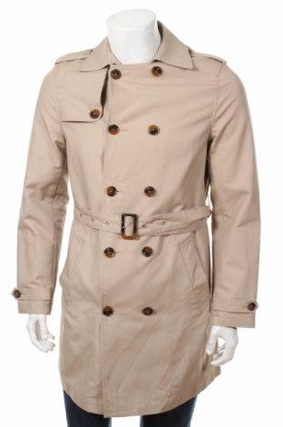 Мъжки шлифер Pier One, Размер S, Цвят Бежов, 100% памук, Цена 70,20лв.