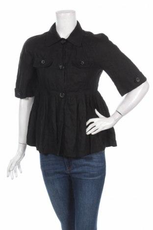 Дамско яке, Размер S, Цвят Черен, 100% лен, Цена 54,29лв.