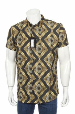 Pánska košeľa  Boohoo, Veľkosť M, Farba Čierna, Polyester, Cena  3,90€