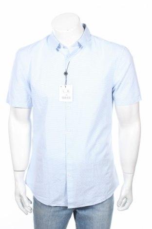 Мъжка риза Lefties, Размер L, Цвят Син, Памук, Цена 17,60лв.