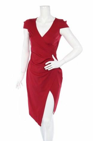 Šaty  Boohoo, Veľkosť M, Farba Červená, 95% polyester, 5% elastan, Cena  16,88€