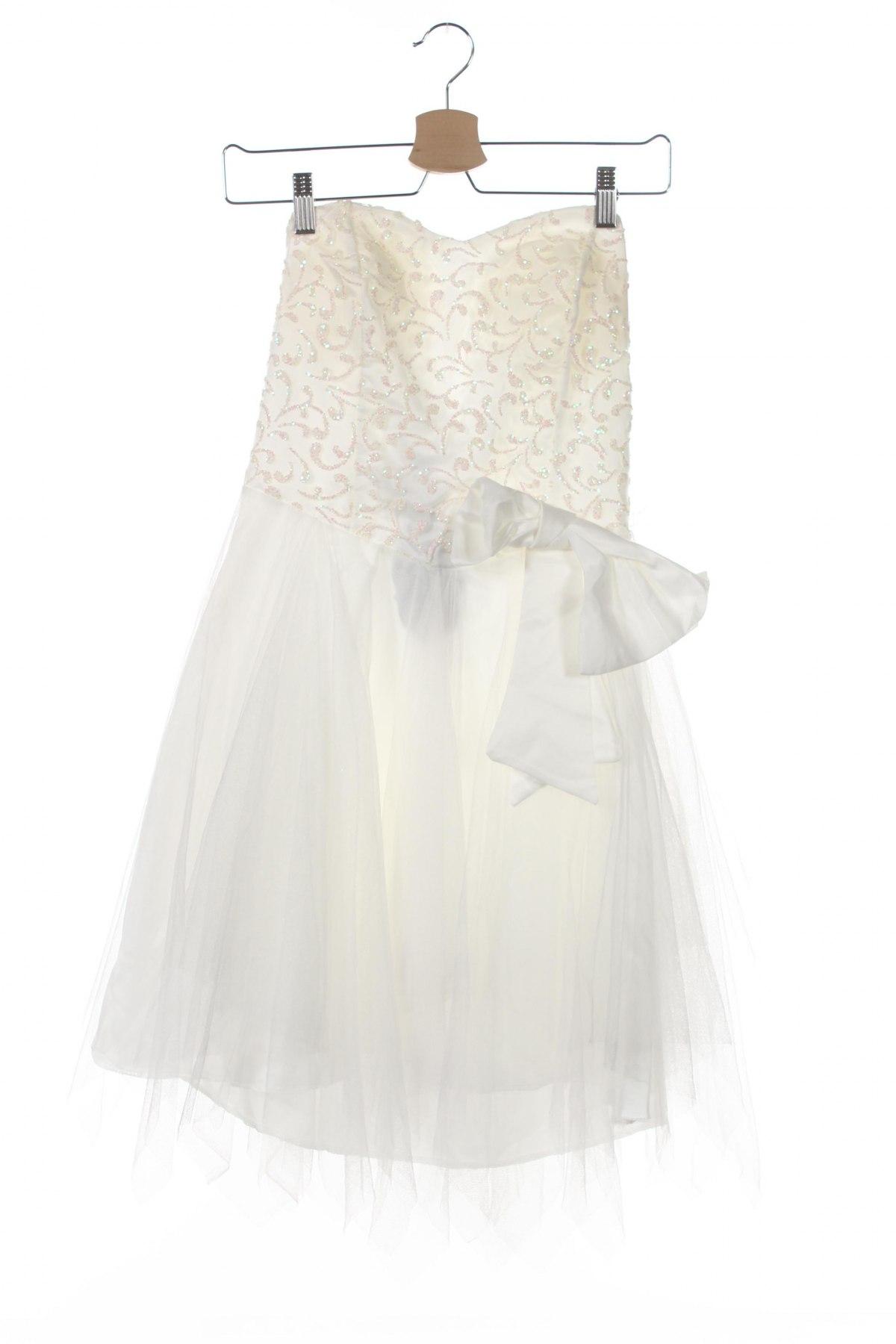 Детска рокля, Размер 10-11y/ 146-152 см, Цвят Бял, 95% полиестер, 5% памук, Цена 32,28лв.
