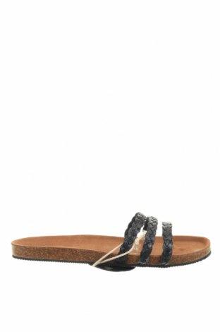 Γυναικείες παντόφλες Flip Flop, Μέγεθος 39, Χρώμα Γκρί, Γνήσιο δέρμα, Τιμή 22,40€