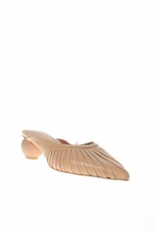Γυναικείες παντόφλες Reserved, Μέγεθος 38, Χρώμα  Μπέζ, Γνήσιο δέρμα, Τιμή 22,94€
