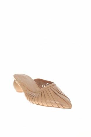 Γυναικείες παντόφλες Reserved, Μέγεθος 36, Χρώμα  Μπέζ, Γνήσιο δέρμα, Τιμή 20,11€