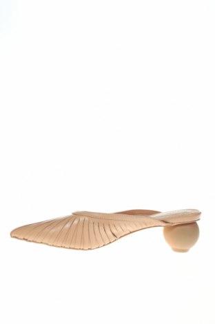 Чехли Reserved, Размер 36, Цвят Бежов, Естествена кожа, Цена 29,64лв.