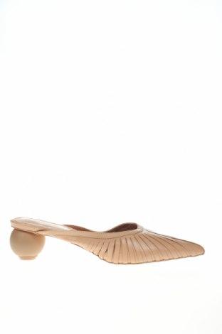 Γυναικείες παντόφλες Reserved, Μέγεθος 39, Χρώμα  Μπέζ, Γνήσιο δέρμα, Τιμή 20,11€