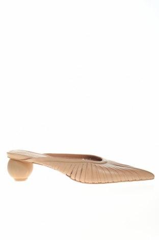 Γυναικείες παντόφλες Reserved, Μέγεθος 40, Χρώμα  Μπέζ, Γνήσιο δέρμα, Τιμή 20,11€