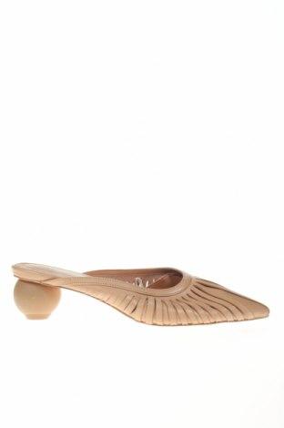 Γυναικείες παντόφλες Reserved, Μέγεθος 37, Χρώμα  Μπέζ, Γνήσιο δέρμα, Τιμή 13,27€