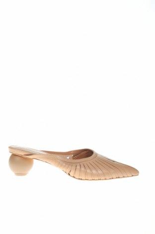 Papuci Reserved, Mărime 37, Culoare Bej, Piele naturală, Preț 59,01 Lei