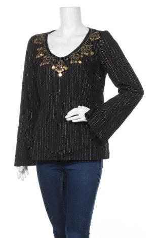 Γυναικεία μπλούζα Apart, Μέγεθος L, Χρώμα Μαύρο, 99% βαμβάκι, 1% μεταλλικά νήματα, Τιμή 12,00€