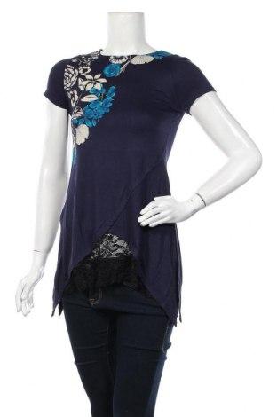 Γυναικεία μπλούζα Desigual, Μέγεθος S, Χρώμα Μπλέ, 96% βισκόζη, 4% ελαστάνη, Τιμή 17,43€