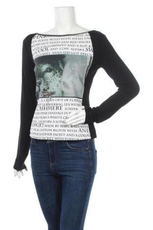 Дамска блуза Marc Cain, Размер L, Цвят Черен, Памук, вискоза, еластан, Цена 54,60лв.