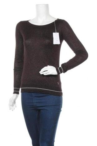 Γυναικεία μπλούζα Patrizia Pepe, Μέγεθος S, Χρώμα Καφέ, 82% βισκόζη, 10% πολυαμίδη, 8% μεταλλικά νήματα, Τιμή 53,26€