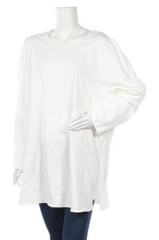 Γυναικεία μπλούζα Ulla Popken, Μέγεθος 3XL, Χρώμα Λευκό, Βαμβάκι, Τιμή 40,27€