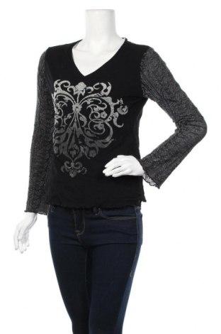 Γυναικεία μπλούζα Via Appia, Μέγεθος M, Χρώμα Μαύρο, Πολυεστέρας, Τιμή 6,43€