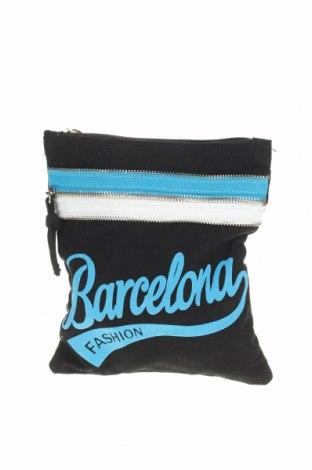 Γυναικεία τσάντα Barcelona, Χρώμα Μαύρο, Κλωστοϋφαντουργικά προϊόντα, Τιμή 8,83€