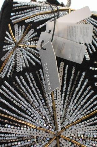 Дамска чанта Parfois, Цвят Черен, Естествен велур, текстил, Цена 29,70лв.