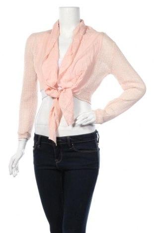 Дамска жилетка, Размер M, Цвят Розов, 85% полиестер, 15% памук, Цена 5,31лв.