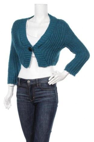 Γυναικεία ζακέτα, Μέγεθος M, Χρώμα Μπλέ, 50%ακρυλικό, 25% μαλλί από αλπακά, 25% μαλλί από αλπακά, Τιμή 6,37€