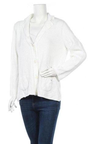 Γυναικεία ζακέτα Lucia, Μέγεθος XL, Χρώμα Λευκό, 50% βαμβάκι, 50% πολυακρυλικό, Τιμή 5,46€