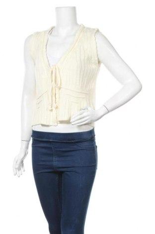 Дамска жилетка Okay, Размер L, Цвят Бял, 100% полиакрил, Цена 5,77лв.