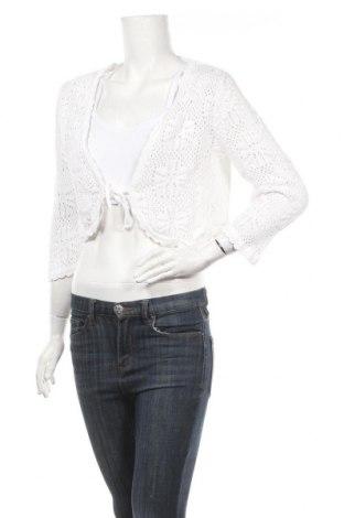 Γυναικεία ζακέτα Tom Tailor, Μέγεθος L, Χρώμα Λευκό, Βαμβάκι, Τιμή 8,18€