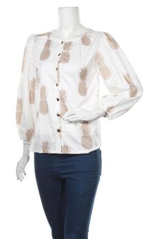 Дамска риза, Размер S, Цвят Бял, 65% памук, 35% полиестер, Цена 10,40лв.