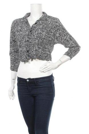 Дамска риза, Размер M, Цвят Черен, Вискоза, Цена 4,46лв.
