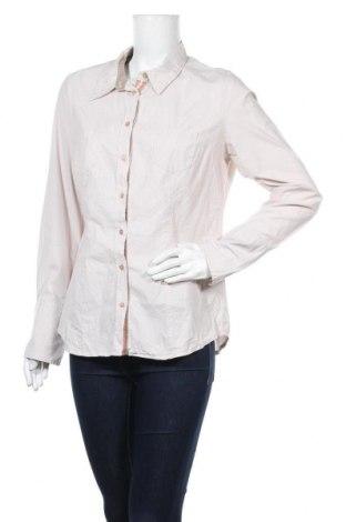 Дамска риза, Размер L, Цвят Бежов, 97% памук, 3% еластан, Цена 6,72лв.