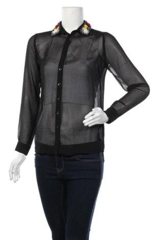 Дамска риза ASOS, Размер XS, Цвят Черен, Полиестер, Цена 7,73лв.