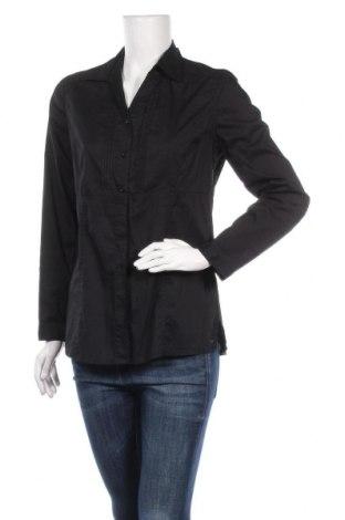 Дамска риза Cecil, Размер S, Цвят Черен, 73% памук, 24% полиамид, 3% еластан, Цена 17,85лв.