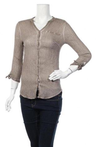 Дамска риза Charles Vogele, Размер M, Цвят Кафяв, 80% вискоза, 20% полиамид, Цена 5,78лв.