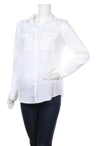 Дамска риза Esprit, Размер M, Цвят Бял, 56% рамия, 44% памук, Цена 22,05лв.
