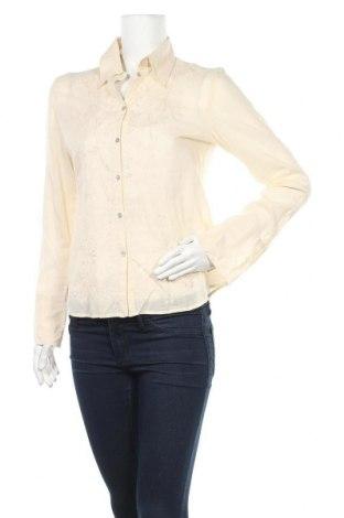 Дамска риза H&M, Размер M, Цвят Бежов, Памук, Цена 18,90лв.
