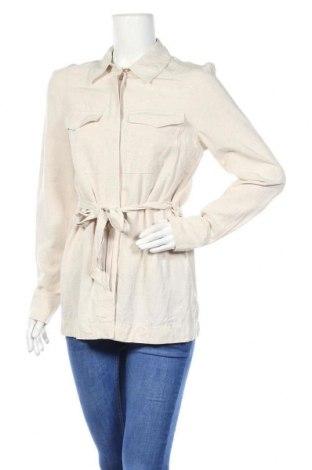 Дамска риза H&M, Размер XS, Цвят Бежов, 53% вискоза, 26% памук, 21% лен, Цена 19,95лв.