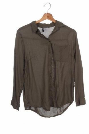 Дамска риза H&M Divided, Размер XS, Цвят Зелен, 100% вискоза, Цена 12,19лв.