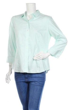Дамска риза Jones New York, Размер L, Цвят Зелен, Памук, Цена 16,96лв.