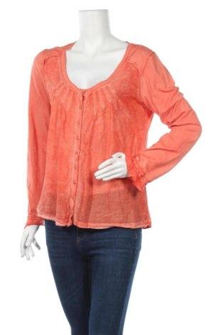 Дамска риза Nile, Размер L, Цвят Оранжев, 70% памук, 30% коприна, Цена 19,95лв.