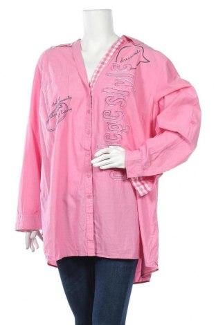Γυναικείο πουκάμισο Ulla Popken, Μέγεθος L, Χρώμα Ρόζ , Βαμβάκι, Τιμή 8,83€
