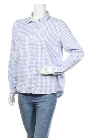 Дамска риза Yessica, Размер L, Цвят Син, Памук, Цена 9,45лв.