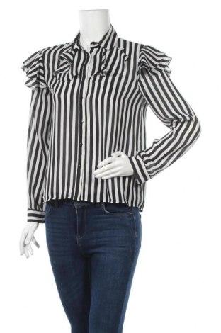 Дамска риза Zara, Размер S, Цвят Черен, Полиестер, Цена 16,17лв.