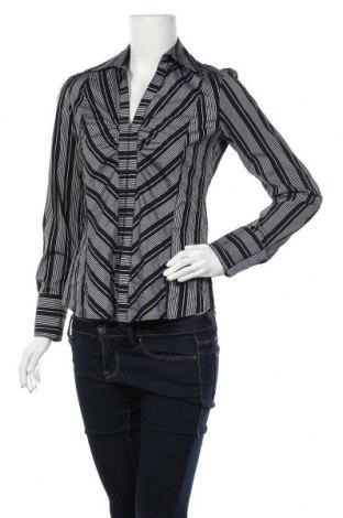 Дамска риза Zara, Размер M, Цвят Черен, 52% памук, 27% полиамид, 19% полиестер, 2% еластан, Цена 17,85лв.