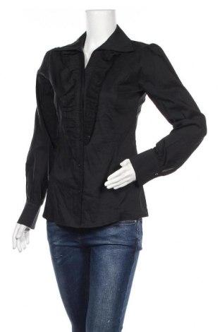 Дамска риза Zebra, Размер M, Цвят Черен, 52% памук, 45% полиамид, 3% еластан, Цена 4,54лв.