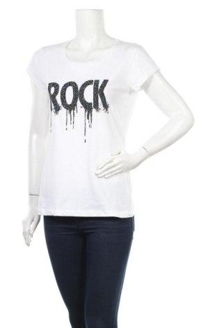 Дамска тениска, Размер S, Цвят Бял, Памук, Цена 33,35лв.